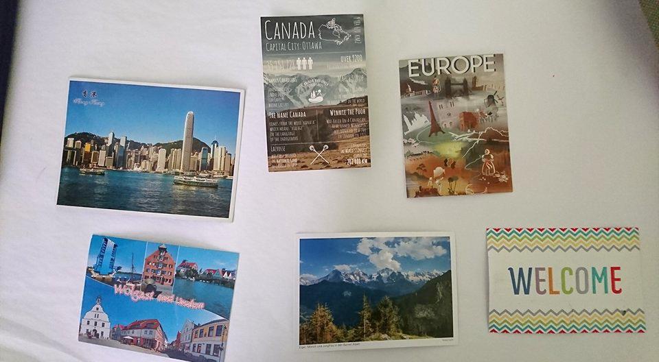 Postcrossing kahe prantsuse välisvabatahtlikuga – Kus siis ikkagi on Guatemala?